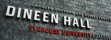 Building Graphic Program Brands Dineen Hall—Syracuse University College of Law's New State-of-the-Art Facility