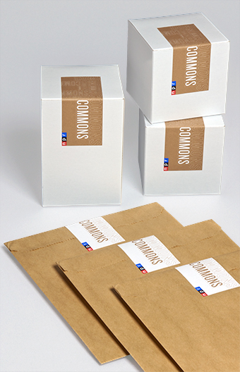 NPR Commons gift boxes and flat bags
