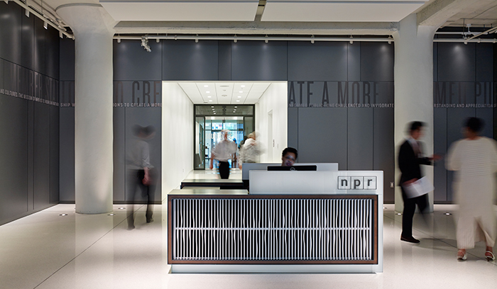 NPR Headquarters lobby desk mission statement