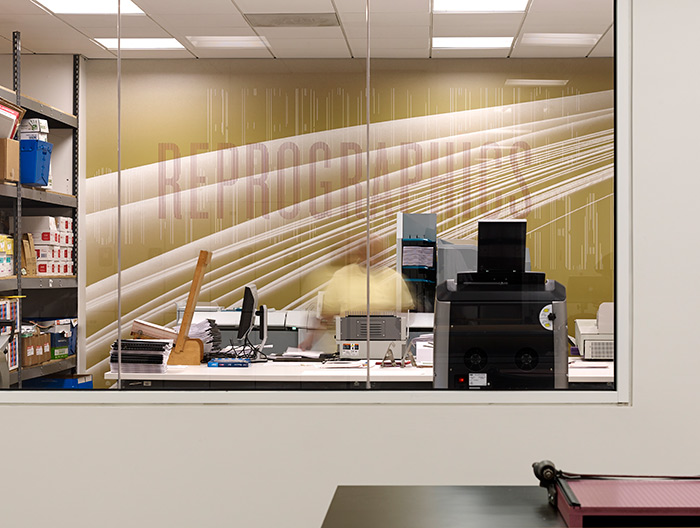 NPR Headquarters reprographics murals