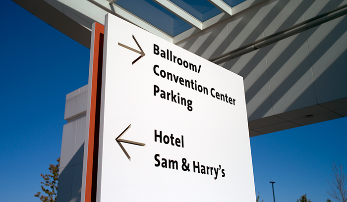 Renaissance Schaumburg Hotel and Convention Center parking directional wayfinding