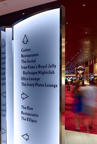 Revel Hotel and Casino wayfinding detail