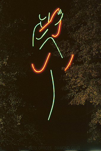 Shea Stadium Pitcher neon
