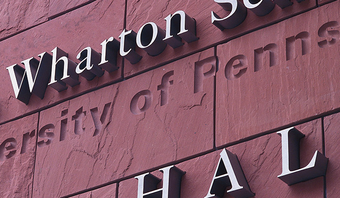 Wharton School of Business main identification detail