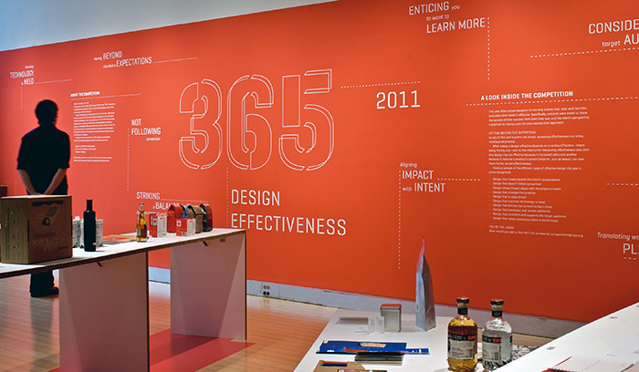 AIGA wall mural typography